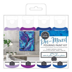 American Crafts Colour Pour Pre-Mixed Paint Kit 4 pack Galaxy Surge