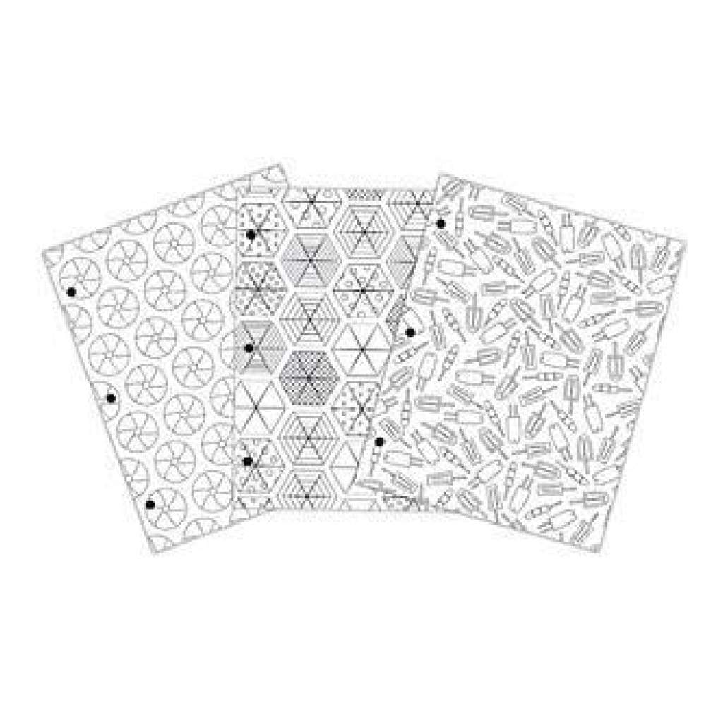 American Crafts - Creative Zen Colouring Folders 9.6 Inch X14 Inch 3 Pack Summer