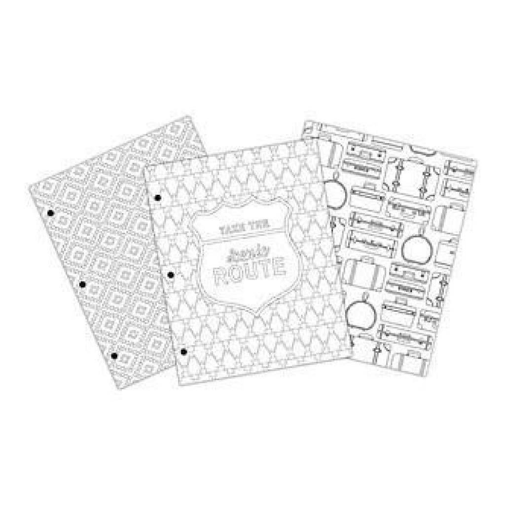 American Crafts - Creative Zen Colouring Folders 9.6 Inch X14 Inch 3 Pack Travel