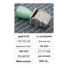 American Crafts - Dear Lizzy Lucky Charm - Rotary Phrase Stamp