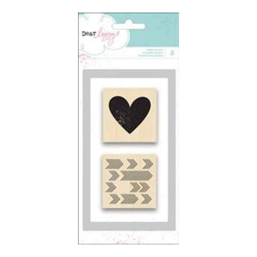 Dear Lizzy Polka Dot Party - Wood Stamp Set