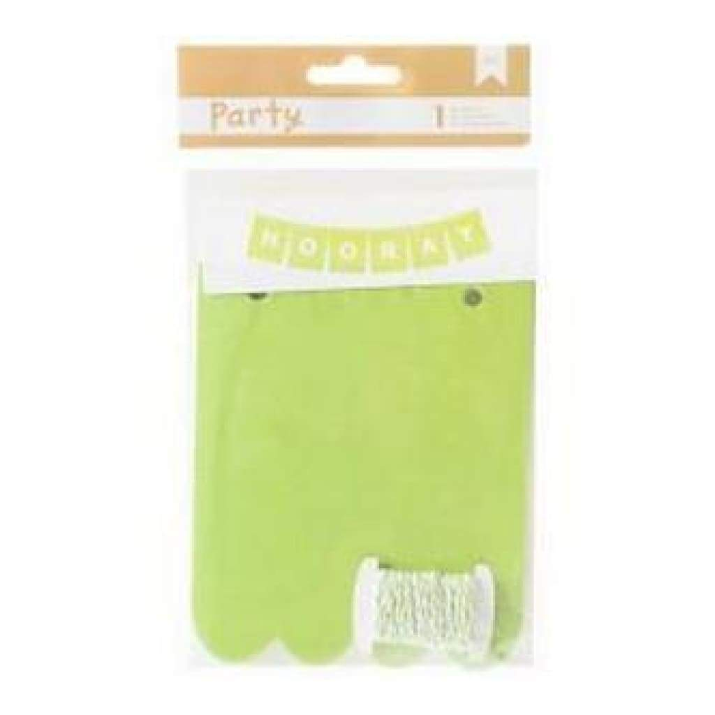 American Crafts - Diy Party Banner Kit Green & White