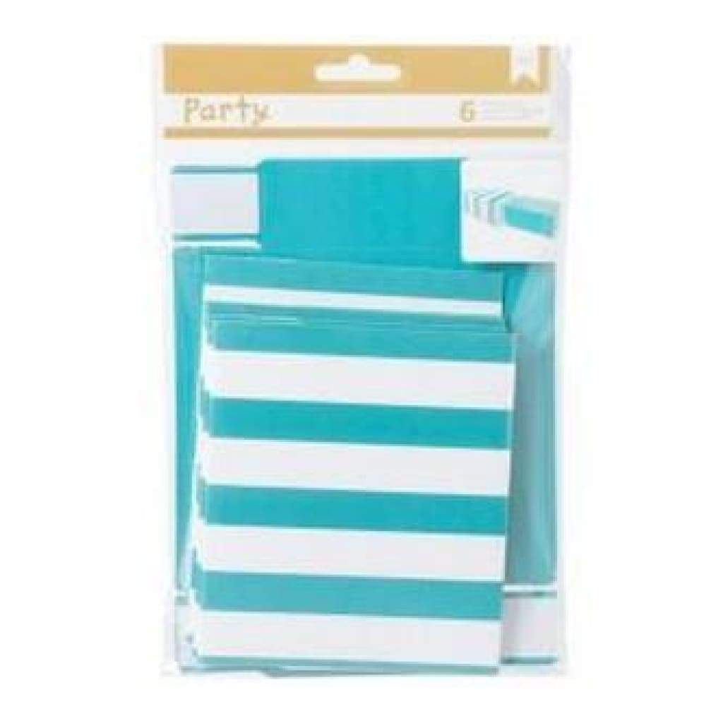 American Crafts - Diy Party Matchbox Treat Boxes 3In.X5in.X1.25In. 6 Pack  Blue & White