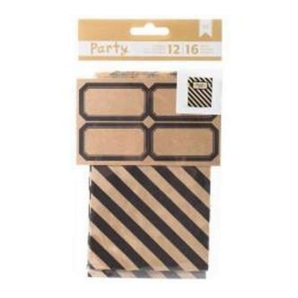 American Crafts - Diy Party Treat Bags & Labels Black & Kraft