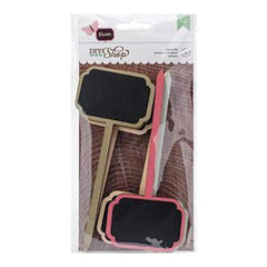 American Crafts  - Diy Shop 2 Signposts 6 Pack Colored Frame Chalkboard