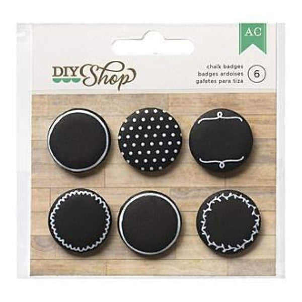 American Crafts - Diy Shop Adhesive Badges 6 Pack Chalkboard (Only $4 99)