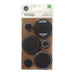 American Crafts - Diy Shop Flair Badges 6 Pack Chalkboard