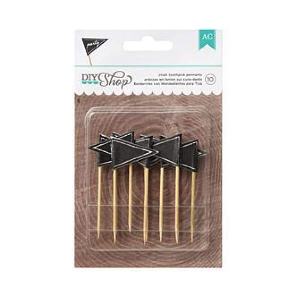 American Crafts - Diy Shop Toothpicks 10 Pack Chalkboard Pennant