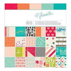 American Crafts Paper Pad 12Inch X12inch  48/Pkg Shimelle