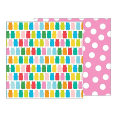 American Crafts - Pebbles -  Happy Hooray Double-Sided Cardstock 12 inch X12 inch - Beary Sweet