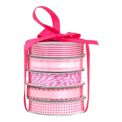 American Crafts Premium Ribbon & Twine 5-Packs - Spring Pink