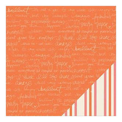 American Crafts - Shimelle Double-Sided Cardstock 12Inx12in  Earhart