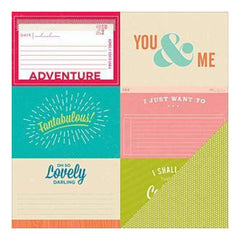 American Crafts - Shimelle Double-Sided Cardstock 12Inx12in Rubin