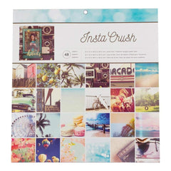 "American Crafts Single-Sided Paper Pad 12""X12"" 48/Pkg Photo Real Insta Crush"
