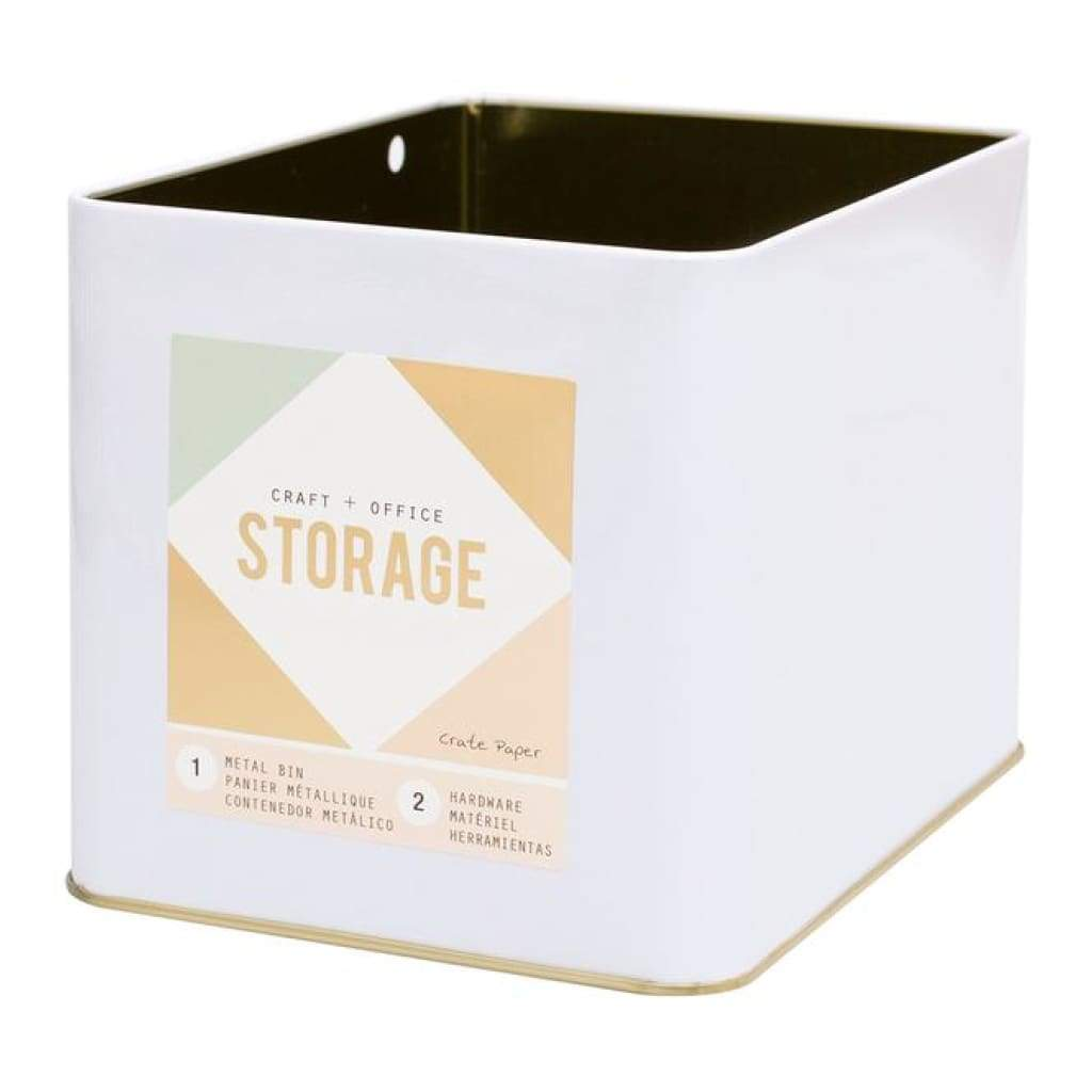 American Crafts - Wire System Metal Storage Bin Large Gold