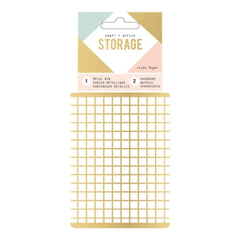 American Crafts - Wire System Metal Storage Bin Small Gold
