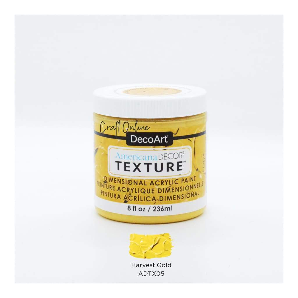 Americana Decor Texture 8oz - Harvest Gold