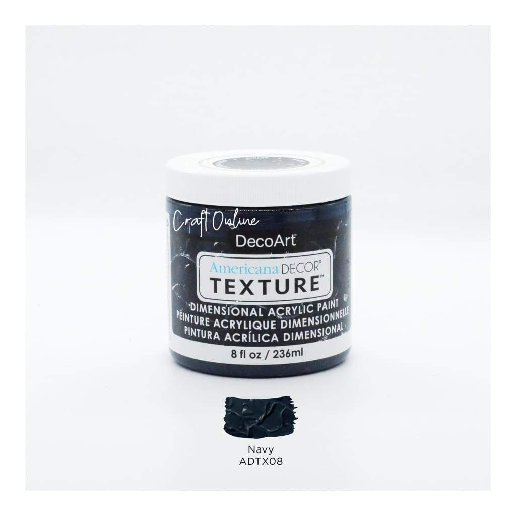 Americana Decor Texture 8oz - Navy