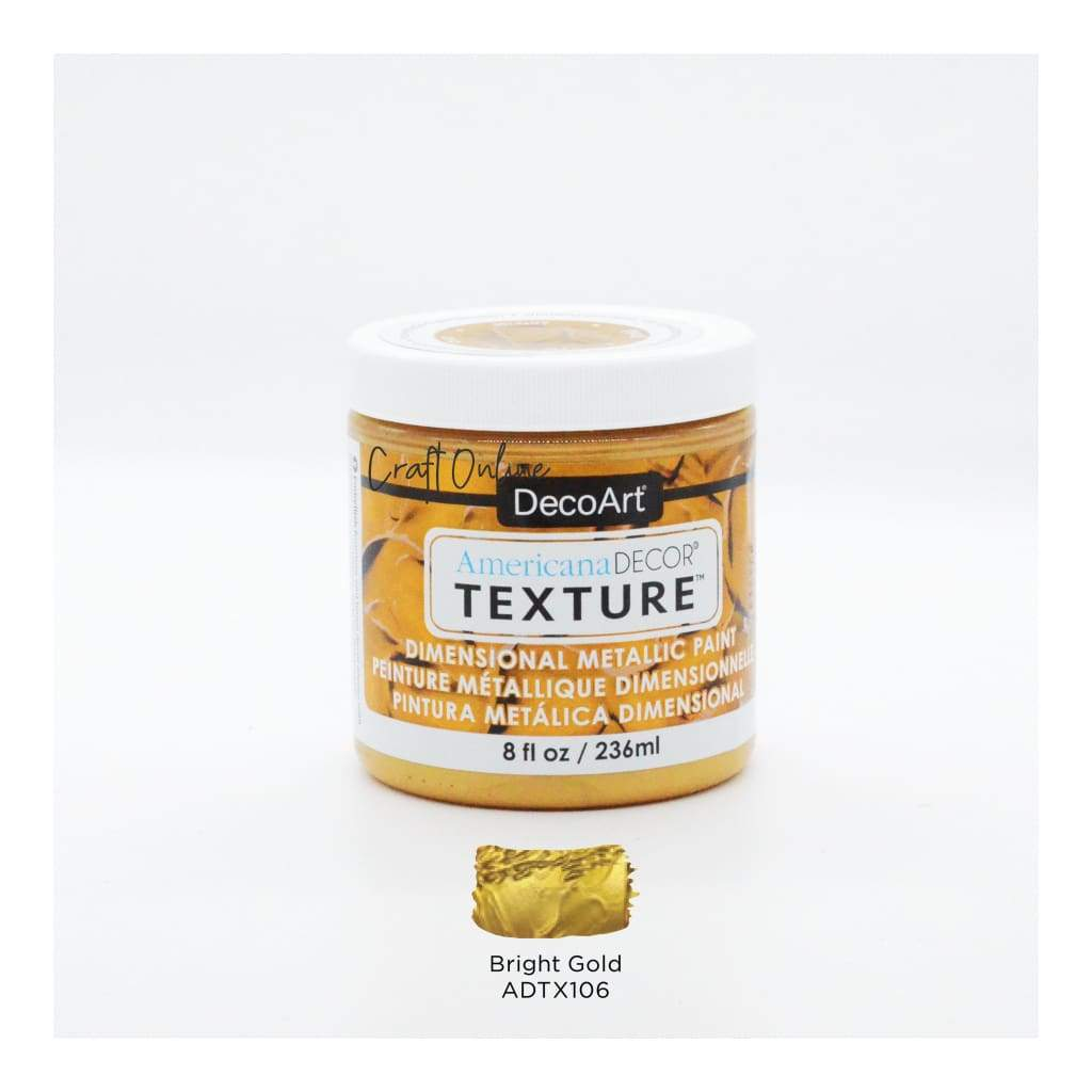 Americana Decor Texture Metallics 8oz - Bright Gold