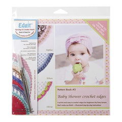 Ammees Babies Edgit Piercing Crochet Hook & Book Set Baby Shower Crochet Edges