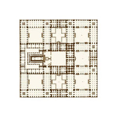 Anna Griffin - Flora - Garden Plan Brown 12x12 paper (pack of 10)
