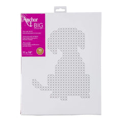 Anchor Big Stitch Art Cross Stitch Kit 11X14 - Dog Stamped On Stretched Canvas