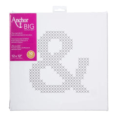 Anchor Big Stitch Art Cross Stitch Kit 12X12 Ampersand Stamped On Stretched Canvas