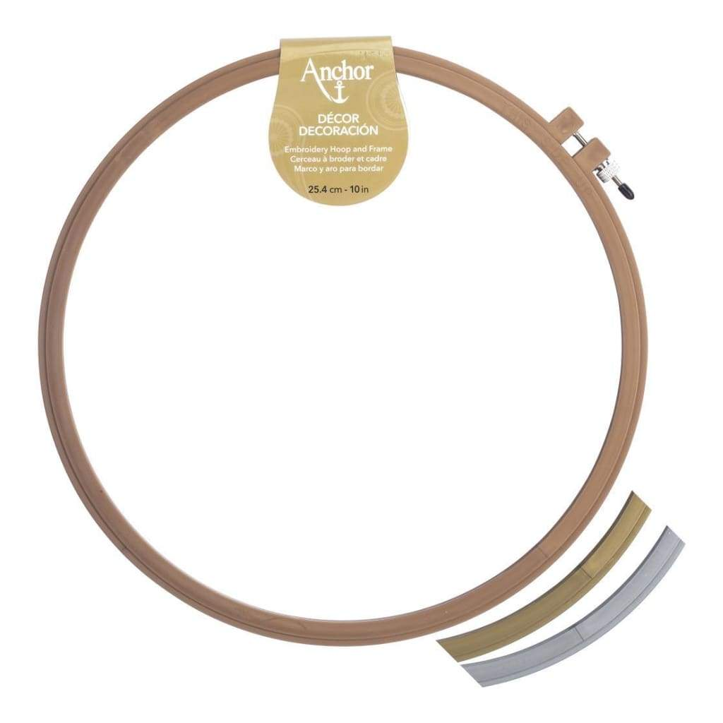 Anchor Decor Plastic Embroidery Hoop Assorted Metallic Colour - 10 Diameter Copper