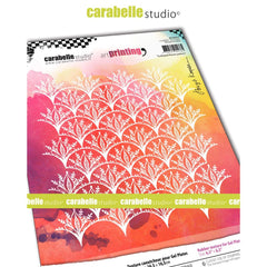 Carabelle Studio - Art Printing Square Rubber Texture Plate - Scalloped Flower Pattern