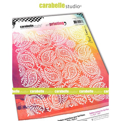Carabelle Studio - Art Printing Square Rubber Texture Plate - Indian Wallpaper