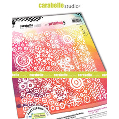 Carabelle Studio - Art Printing Square Rubber Texture Plate - Doodle Bug
