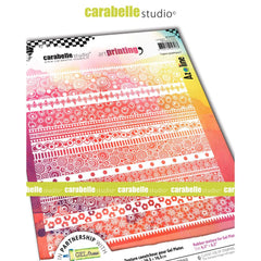 Carabelle Studio - Art Printing Square Rubber Texture Plate - Graphic Lines