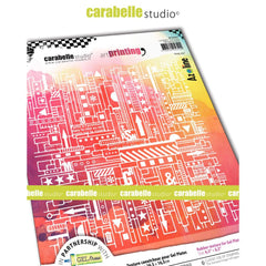Carabelle Studio - Art Printing Square Rubber Texture Plate - Pink City