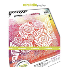 Carabelle Studio Art Printing Square Texture Plate - Fantaisie Spiralee