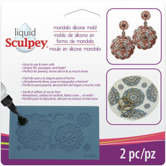 Liquid Sculpey Silicone Bakeable Mold with Squeegee - Mandala