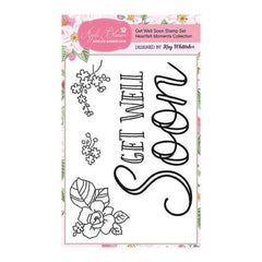 Apple Blossom A6 Stamp Set - Get Well Soon with Sentiment - Set of 4 - Heartfelt Moments