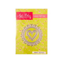 Apple Blossom Craft Collection Heart Frames die set