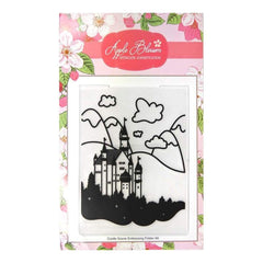 Apple Blossom Embossing Folder - A6 Castle Scene Embossing Folder