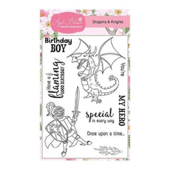 Apple Blossom Enchanted Collection - Dragons & Knights - A6 Stamp set