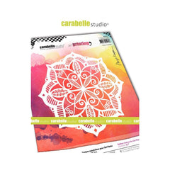 Carabelle Studio Art Printing Square Rubber Texture Plate - Indian Mandala
