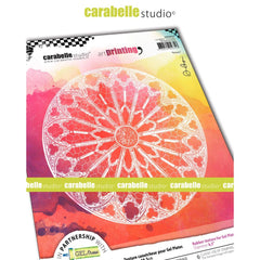 Carabelle Studio - Art Printing Round Rubber Texture Plate - Rosace