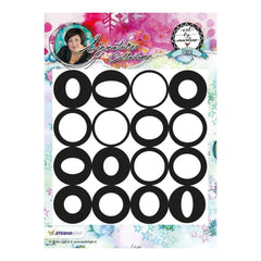 Studio Light Art By Marlene Background Cling Stamp - All the Circles