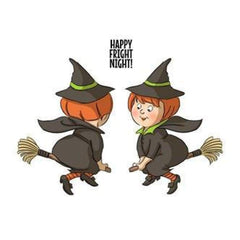 Art Impressions Spinners Cling Rubber Stamp 7Inch X4inch  Witch