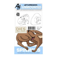 Art Impressions Spinners Stamp & Die Set Dog
