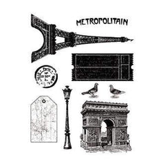 Artemio Clear Stamps 5.9In.X8.7In. Paris Vintage