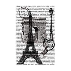 Artemio Cling Stamps 3.93In.X5.7In. Paris With Text In Background