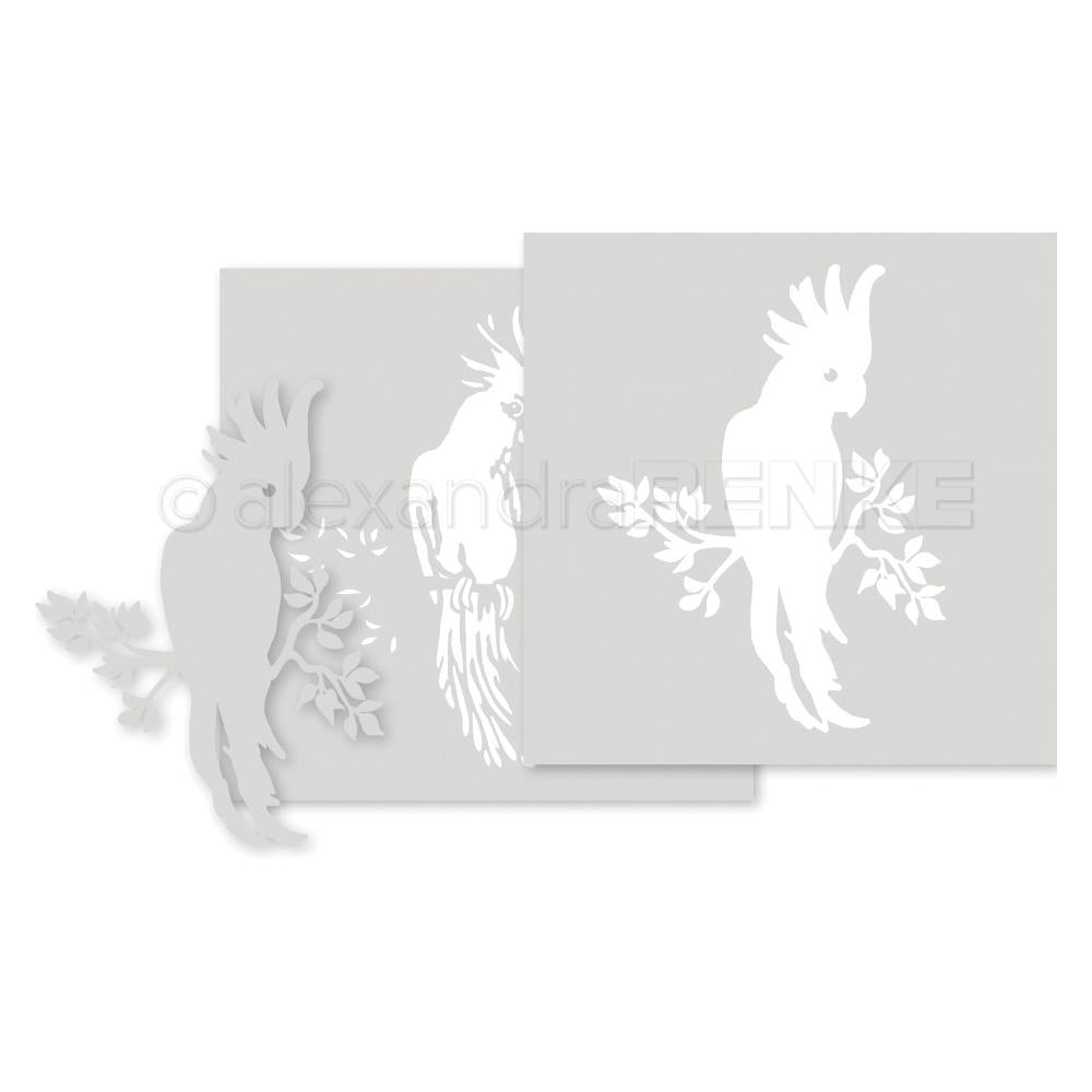 Alexandra Renke Stencil 6 inch X6 inch 3 pack - Cockatoo, Wildness Of Nature