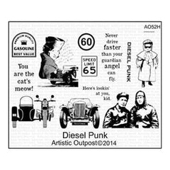 Artistic Outpost Cling Stamp 9In. X 7In. Diesel Punk