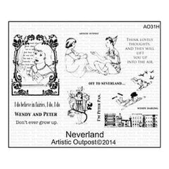 Artistic Outpost Cling Stamp 9In. X 7In. Neverland