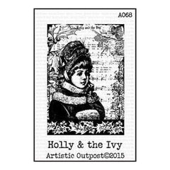 Artistic Outpost Cling Stamps 3.75In. X6in.  - Holly And The Ivy